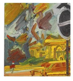 View PARK VILLAGE EAST By Frank Auerbach; oil on board; 51 by 20 by . Access more artwork lots and estimated & realized auction prices on MutualArt. Landscape Art, Landscape Paintings, Oil Paintings, Painting Art, Landscapes, Frank Auerbach, English Artists, British Artists, Cubism Art