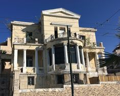 Greece, Multi Story Building, Mansions, Architecture, House Styles, Home, Greece Country, Arquitetura, Manor Houses