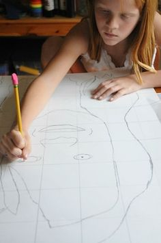 Grid Drawing With Kids: Portraits