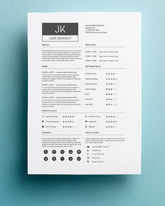 Resume Template | Cover Letter Template For Word | Professional And Modern Resume  Template | Instant