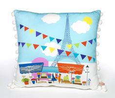 paris cushion by michelle mason | notonthehighstreet.com