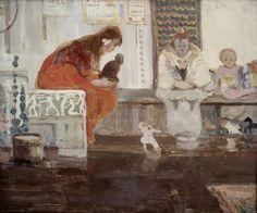 """Witold Wojtkiewicz, """"Cyrk II"""" z cyklu """"Cyrk"""", 1907, olej, płótno"""
