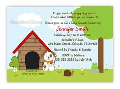 Frogs Snails And Puppy Dog Tails Baby Shower