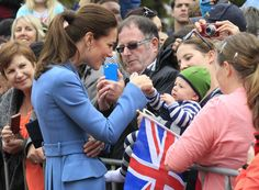 Kate charms on Royal Tour 4/2014 in Blenheim, New Zealand.