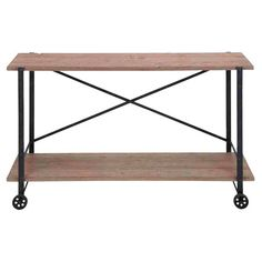 Wood and metal console table.Product: Console table  Construction Material: Metal and wood  Color: Natural ...