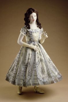 Girl's Dress England, circa 1860 Costumes; principal attire (entire body) Printed organdy Center back length: 35 1/8 in. (89.22 cm) http://collections.lacma.org/node/235784