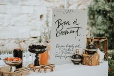 Weekend Wedding Chateau Rigaud Bordeaux Chiara Perano Wedding Lamplighter London Catherine Deane Separates Fern Edwards Photography This Modern Revelry Film Wedding Drink Menu, Rock My Family, Rock My Style, Chambord, Bar Signs, Stationery Design, Cocktail Drinks, Wedding Signs, Champagne