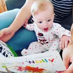 "kali stileman publishing on Instagram: ""We love this photo from @mattmc87 just look at that expression 😃 #babieslovebooks #babiesofinstagram #babybooks #kalistilemanpublishing…"" Our Love, Baby, Instagram, Baby Humor, Infant, Babies, Babys"