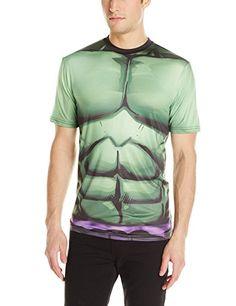 Marvel Incredible Hulk Men's Verde Rock T-Shirt  White Sublimated  X-Large