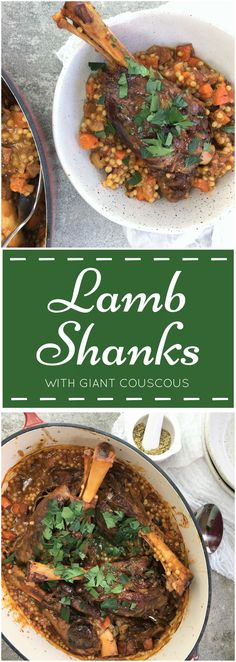 Braised Lamb Shanks with Giant Couscous | lamb shanks | slow cooked | israeli couscous | fennel | ptitim | pearl couscous (how to cook lamb chops in oven)