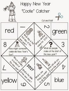 Telling Time Cootie Catcher/Fortune Teller Make your own