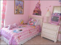 Girls Princess Bedroom disney princess wall decals | disney princess bedroom decorating