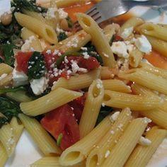 A filling pasta dish that's healthy too.  Allrecipes.com