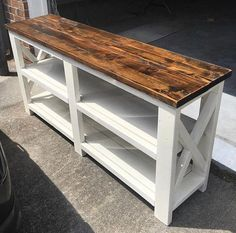 Fine Wood Table Designs Look around as you move throughout your day. From mailbox posts to pieces of furniture and art to full buildings, the power to use wood to create is Country Furniture, Farmhouse Furniture, Home Decor Furniture, Wooden Furniture, Diy Home Decor, Furniture Ideas, Farmhouse Table, Farmhouse Office, Furniture Cleaning