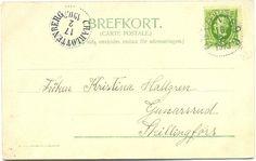 Postg. 1903  Bakside av postkort Thorserud Skillingmark
