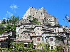 "TAKE A DIP INTO THE PAST! Visit a magic and untouched village on Italian Riviera: Castelvecchio di Rocca Barbena, located just few miles from ""La Meridiana Garlenda ."""
