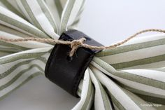 DIY Napkin Rings From An Old Belt (10)