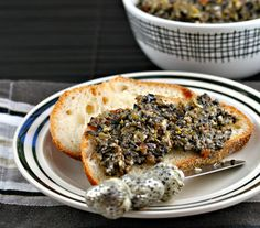 Olive tapenade. Great on fish or chicken or bruschetta.