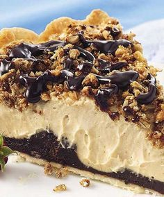 Recipe for Copy Cat Bob Evans Peanut Butter Pie - Noticed this recipe on Pintrest and it was missing a very important ingredient. Now you can have the actual and complete copy cat recipe for Bob Evans Peanut Butter Pie! Just Desserts, Delicious Desserts, Yummy Food, Tasty, Dessert Healthy, Breakfast Healthy, Health Breakfast, Pie Dessert, Dessert Recipes