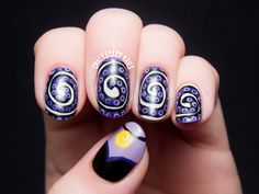 The Disney Diva - Ursula Nail Art by @chalkboardnails