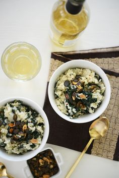 Tuscan Kale and Pumpkin Seed Risotto from Cupcakes & Cashmere