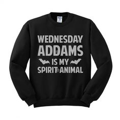 Wednesday Addams is My Spirit Animal (White) Crewneck Sweatshirt – TeesAndTankYou