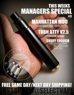 Manhattan-Mod-Black-Tobh-atty-v2-5-Black-Chuff-Enuff-Drip-Top-Black-Full-Kit