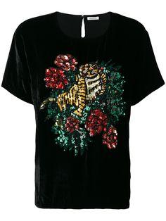 P.A.R.O.S.H. 시퀸 타이거 티셔츠