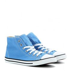 Converse Chuck Taylor Dainty High-Top Sneakers (69 AUD) ❤ liked on Polyvore featuring shoes, sneakers, converse, zapatos, converse high tops, converse footwear, converse trainers, hi tops e blue and white shoes