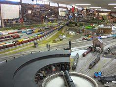 Medina Railroad Museum HO Scale Model Train Layout.