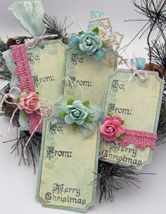 Floral Pastel Tags
