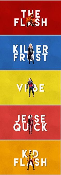 Team Flash | The Flash - Killer Frost - Vibe - Jesse Quick - Kid Flash #season3 #TheFlash #cw