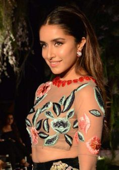 Shraddha Kapoor wearing Anmol's ruby & diamond earrings who was the showstopper at Manish Malhotra's show at Lakme Fashion Week Manish Malhotra, Lakme Fashion Week, Shraddha Kapoor, Celebrity Style, Diamond Earrings, Bollywood, Events, Indian, Jewellery