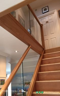 Diminishing glass maximises the width of your stairs without compromising on design and style. Spiral Staircase Kits, House Staircase, Staircase Remodel, Staircase Design, Basement Staircase, Staircase Ideas, Hallway Ideas, Staircases, Stairs Trim