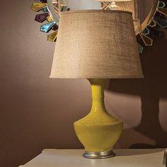 Brussel Lamp Yellow from PoshTots  #lamp #bungalow5 #burlap #yellow #gold