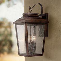 """Irvington Manor 20 3/4"""" High Bronze Outdoor Wall Light"""