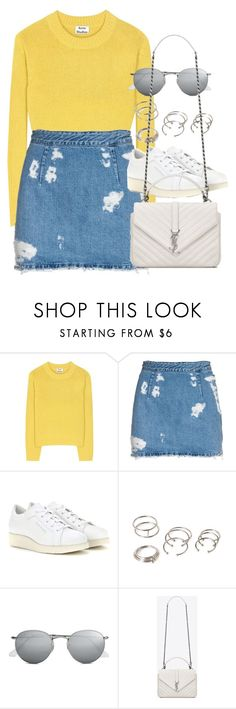 """Style #11211"" by vany-alvarado ❤ liked on Polyvore featuring Acne Studios, Forever 21, Ray-Ban and Yves Saint Laurent"