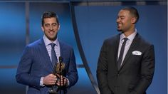 Rodgers and Rodgers accept Play of the Year award 2016