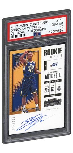 fb6a5e750 2017 Panini Contenders Vertical Autograph Donovan Mitchell Rookie Card  113  PSA GEM MINT 10 RC.  DonovanMitchell  UtahJazz  BasketballCards  PSAGRADED  ...