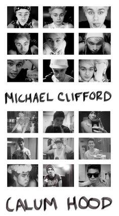 Michael Clifford and Calum Hood Calum Thomas Hood, Calum Hood, 5 Seconds Of Summer, Punk Rock, Rock Boy, Michael Clifford, 1d And 5sos, Luke Hemmings, Derp