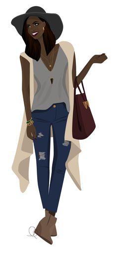 Illustration: fall hat girl on LL-creative.com