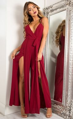 b73e95176d Reveal Me Jumpsuit In Wine Produced