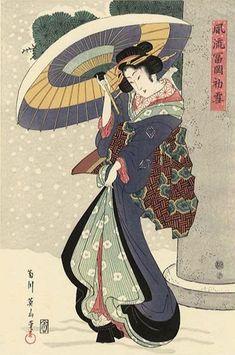 Furyu Tomioka Hatsuuki. Keisai Eisen (1790 - 1848) #Eisen