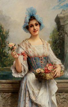 The Flower Seller, Lêon Francois Comerre