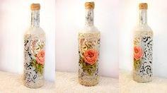 Botella reciclada con cáscara de huevo y decoupage - D.O. La Mancha | Music Jinni