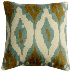"Ikate Pillow 20"""", Sage"