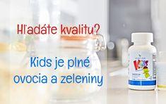 Naše bunky vedia správne fungovať iba ak majú tie správne živiny. Čo v prípade, ak naše deti odmietajú pestrú stravu? Ako zabezpečiť dostatok živín ešte predtým, ako pôjdu v septembri do kolektívu? Vyskúšajte Kids. Personal Care, Bottle, Kids, Young Children, Self Care, Boys, Personal Hygiene, Flask, Children