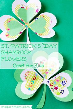 St. Patrick's Day Shamrock Crafts for Kids: How to Make Pretty Shamrock Flowers