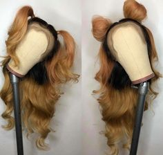 Front Lace Wigs Ombre Color Brown With Black Human Hair Loose Wave Pre Plucked Hairline Human Hair Lace Wigs, Human Hair Wigs, Cheap Human Hair, Natural Hair Styles, Long Hair Styles, Braids Wig, Hair Game, Lace Hair, Loose Hairstyles
