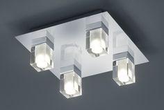 681910406 Trio - kúpeľňové LED svietidlo - 250mm - kov+sklo